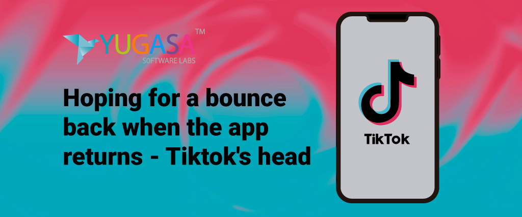Hoping for a bounce-back when the app returns - Tiktok's head
