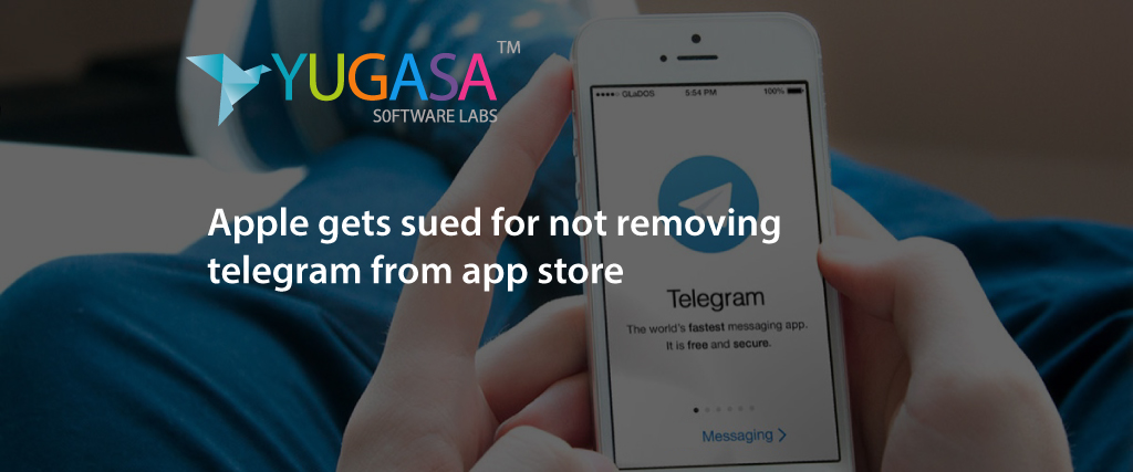 apple gets sued for not removing telegram from the app store