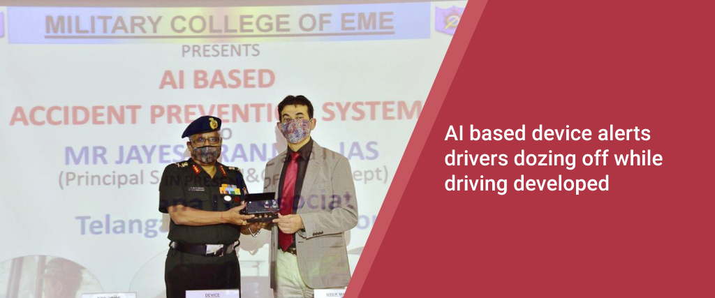 The AI-based device alerts drivers dozing off while driving developed