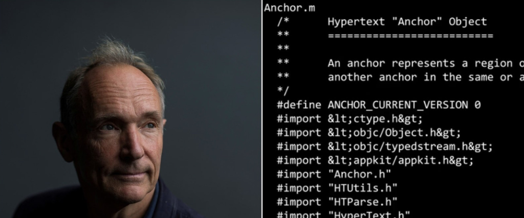 Tim Berners Lee code is up for auction
